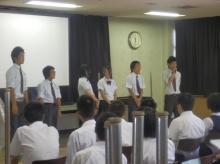(第1回)生徒会による説明の様子