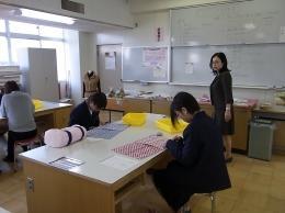 体験授業(エコバッグを作ろう!)